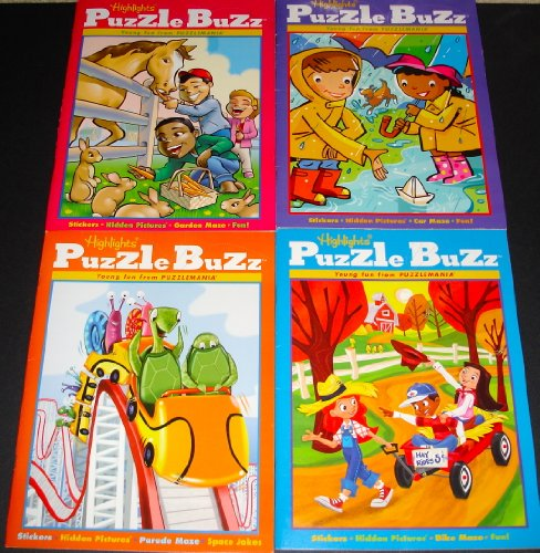 Highlights Puzzle Buzz Activity Books, Set of 4. - Highlights Set