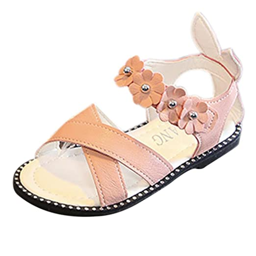dac959fd8d9ee Amazon.com: LNGRY Baby Sandals, Toddler Kids Baby Girls Floral Criss ...