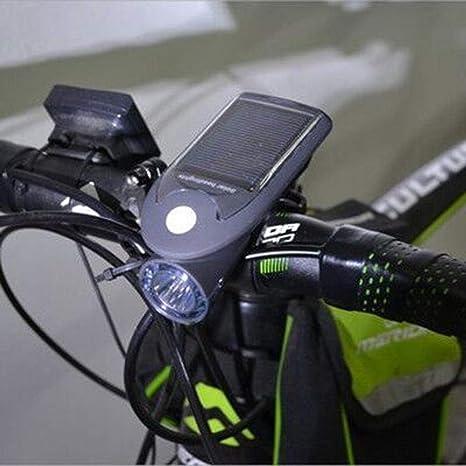 Kaxima Luces Bicicleta Noche Montar Bicicleta Frente Carga Solar ...