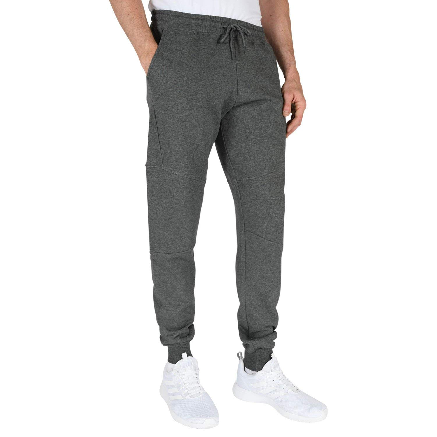 Zimaes-Men Loose Cozy Oversize Elastic Bottom Jogger Pant Trousers