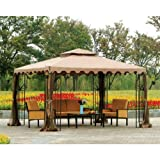 :  Garden Winds Replacement Canopy Top Cover for Big Lot's L-GZ043PST-3 Gazebo (Will Not Fit Any Other Gazebo)