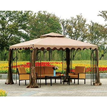 Garden Winds Replacement Canopy Top Cover for Big Lotu0027s L-GZ043PST-3 Gazebo  sc 1 st  Amazon.com & Amazon.com : Garden Winds Replacement Canopy Top Cover for Big ...