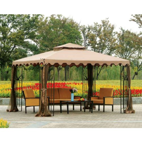 :  Garden Winds Replacement Canopy Top Cover for Big Lot's L-GZ043PST-3 Gazebo (Will Not Fit Any Other Gazebo) by Garden Winds