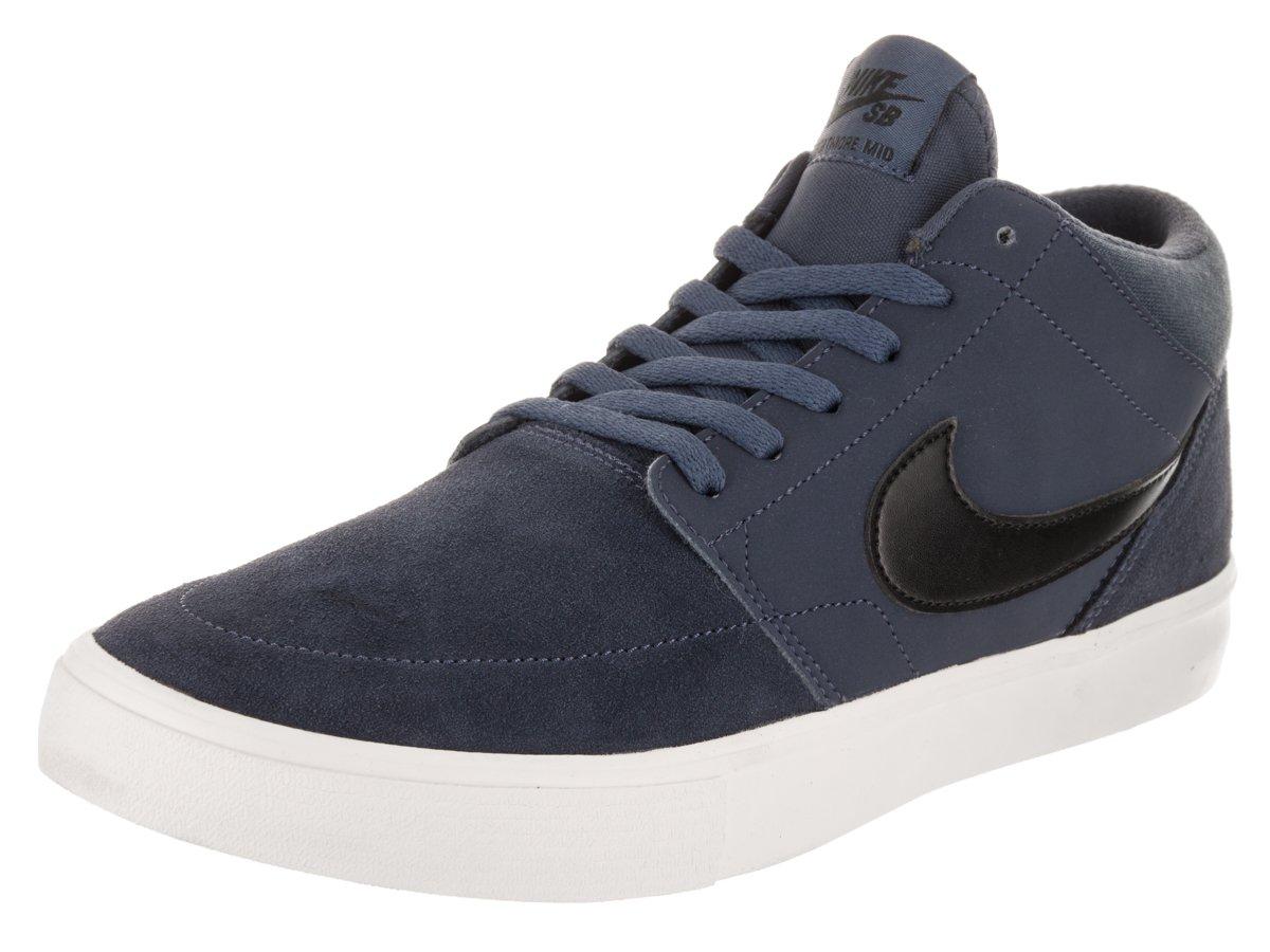 sports shoes d070e ae790 Galleon - NIKE Men s SB Portmore II Solar Mid Thunder Blue Black Skate Shoe  8.5 Men US