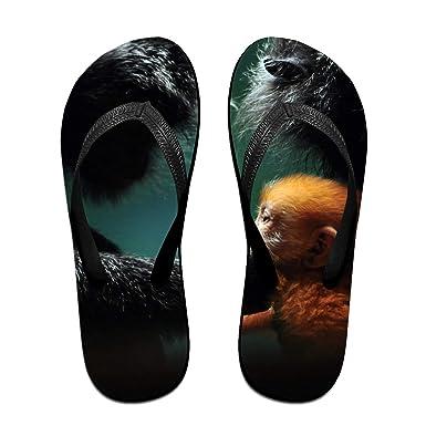 009aa77ee07b3 Amazon.com  Unisex Summer Beach Slippers Monkey Flip-Flop Flat Home ...