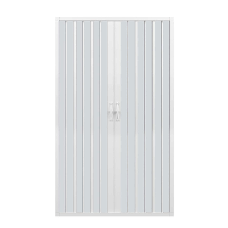 Porta doccia 120 CM in PVC mod. Vergine con apertura centrale Bianco Pastello RL
