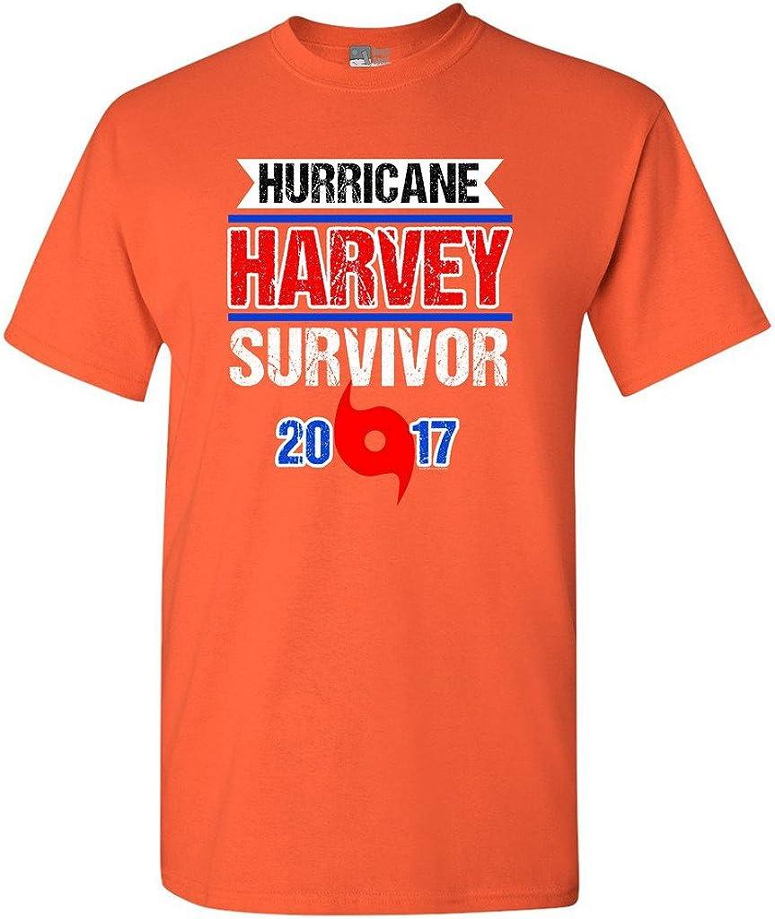 Hurricane Harvey Survivor Cyclone Symbol 2017 Houston Texas DT Adult T-Shirt Tee