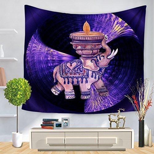 ホームテーブルクロス HOMEタペストリー漫画エレファントプリントウォールデコレーション(カラー:パープル、サイズ:150 * 130CM) 美しいタペストリーのために (色 : Purple, サイズ : 150*130CM) 150*130CM Purple B07MJ9GRH8