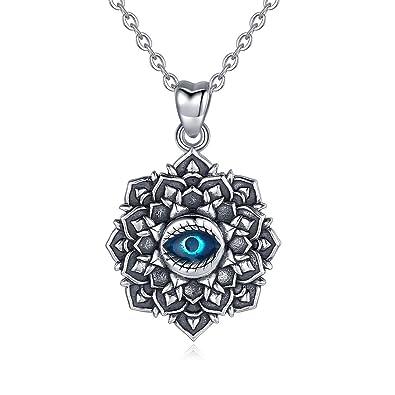 Amazon.com: EUDORA Collar de plata de ley con colgante de ...