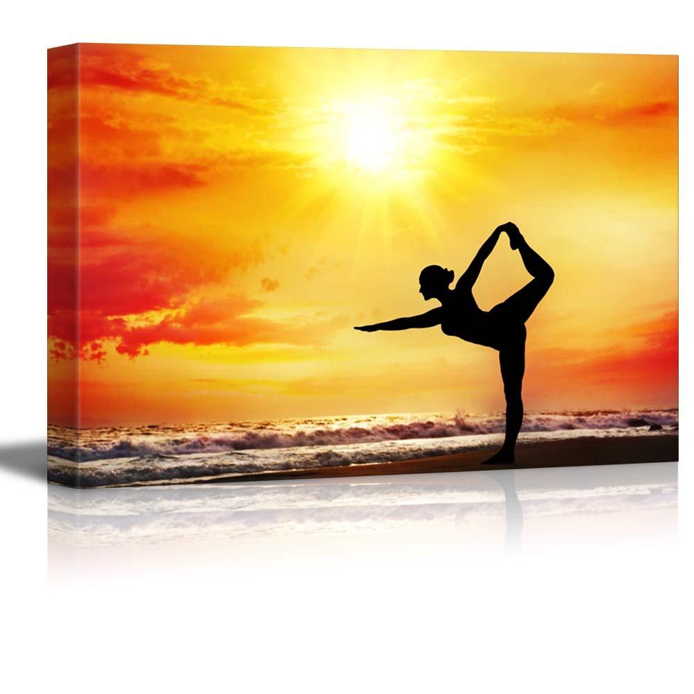 Bikram Yoga in the Blazing Summer Sun Wall Decor ation - Canvas Art ...