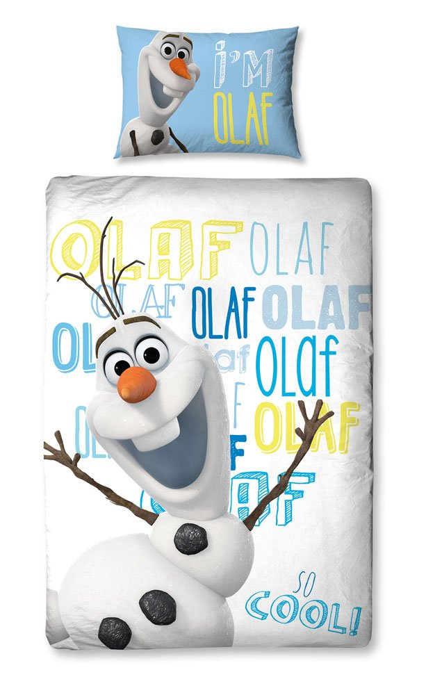 Disney Frozen Character World Olaf Single Panel Duvet Set, White DFROLFDS001UK1