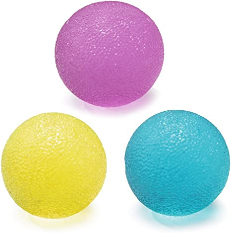lzndeal 3 pcs bola musculación de mano pelota Gel de descompresión ...