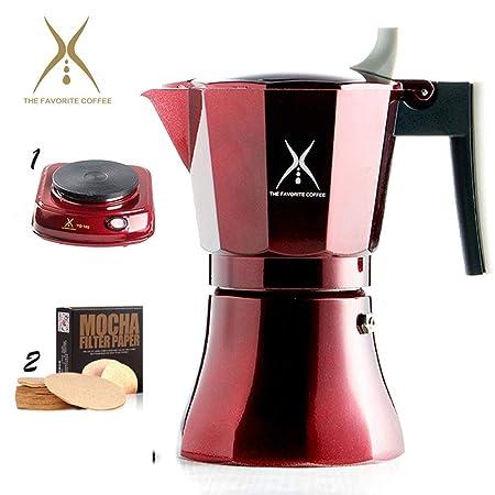 Cafetera italiana de primera calidad para café exprés, olla ...