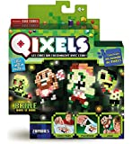 Asmokids Qixels - Kk87023 - Mini Kit 4 Créations - Glow in The Dark - Thème Zombies