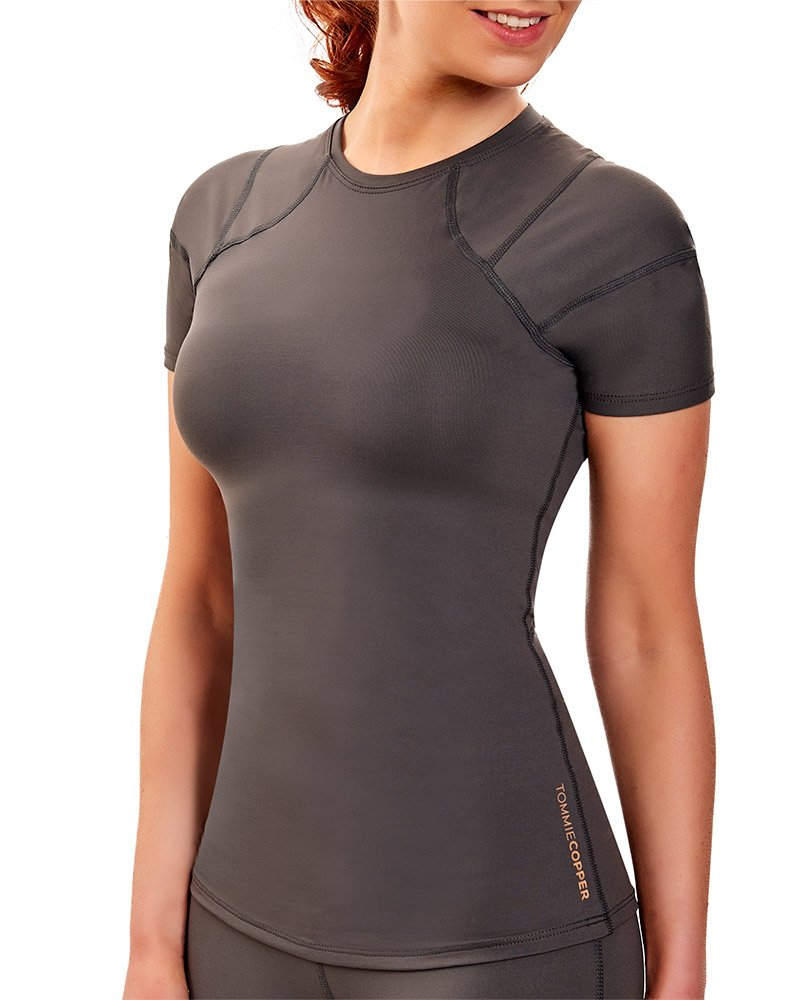 Tommie Copper Women's Pro-Grade Shoulder Centric Support Shirt, Slate Grey, Medium by Tommie Copper (Image #2)