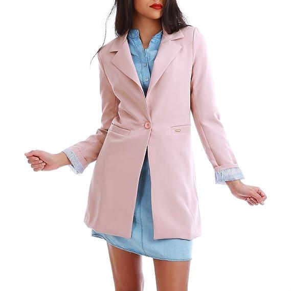 Veste Et La Femme Modeuse Vêtements Longue Blazer T1Oq05Ow