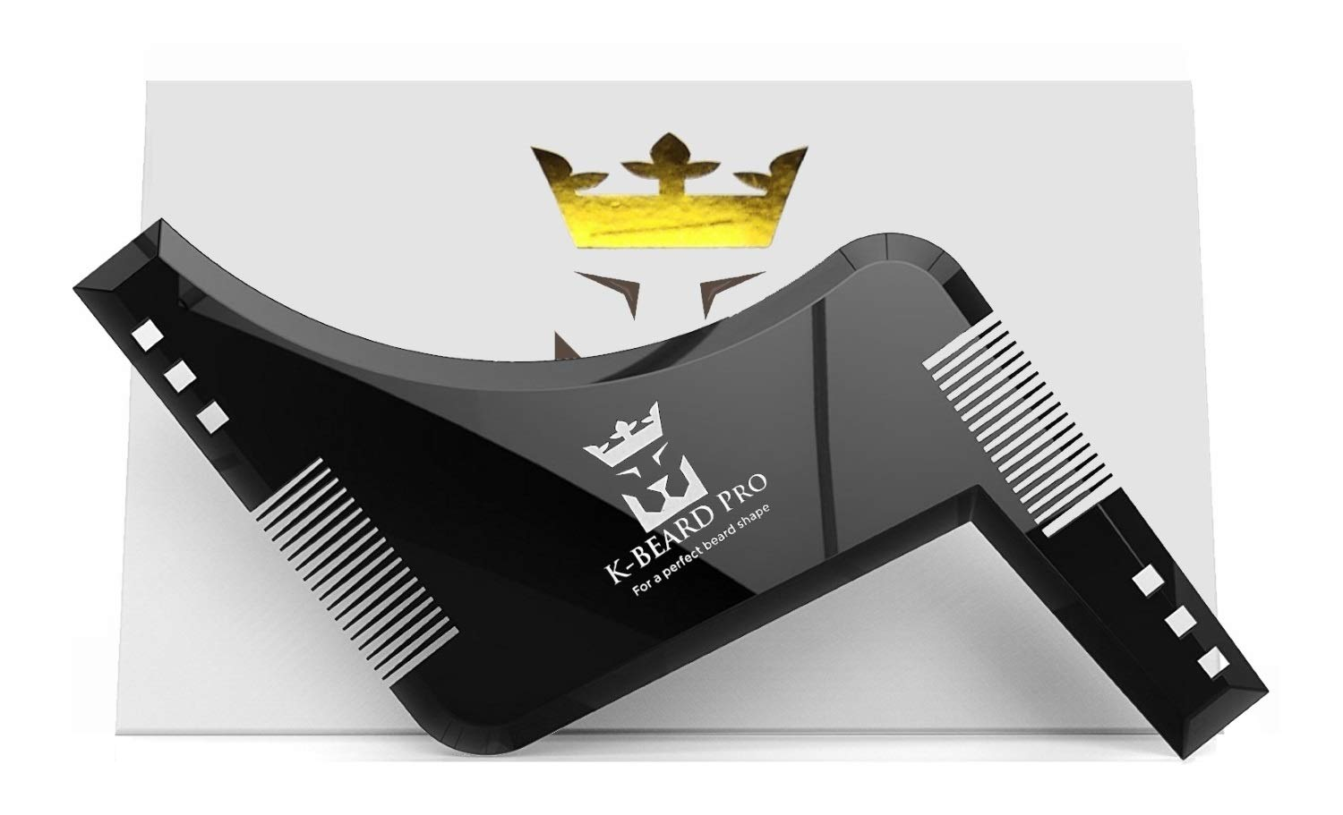 PilPoc K-BEARD Pro - The 1 Beard Styling and Shaping Template Tool for Symmetric Cheek Line, Neck Line, Jaw Line, Moustache, Goatee and Sideburns B01N4JIL7F