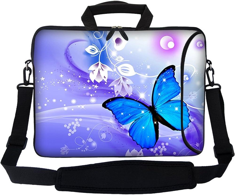 Meffort Inc 17 17.3 inch Neoprene Laptop Bag with Side Pocket & Shoulder Strap