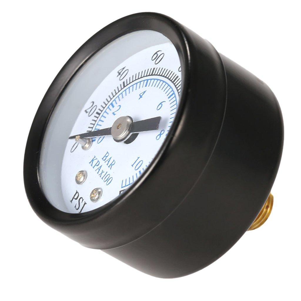 Fenteer 0-160 psi Pressure Gauge Pressure Manometer Water Oil Air Pressure Liquid Air Compressor Pressure 1.57x1.57x1.57 inch