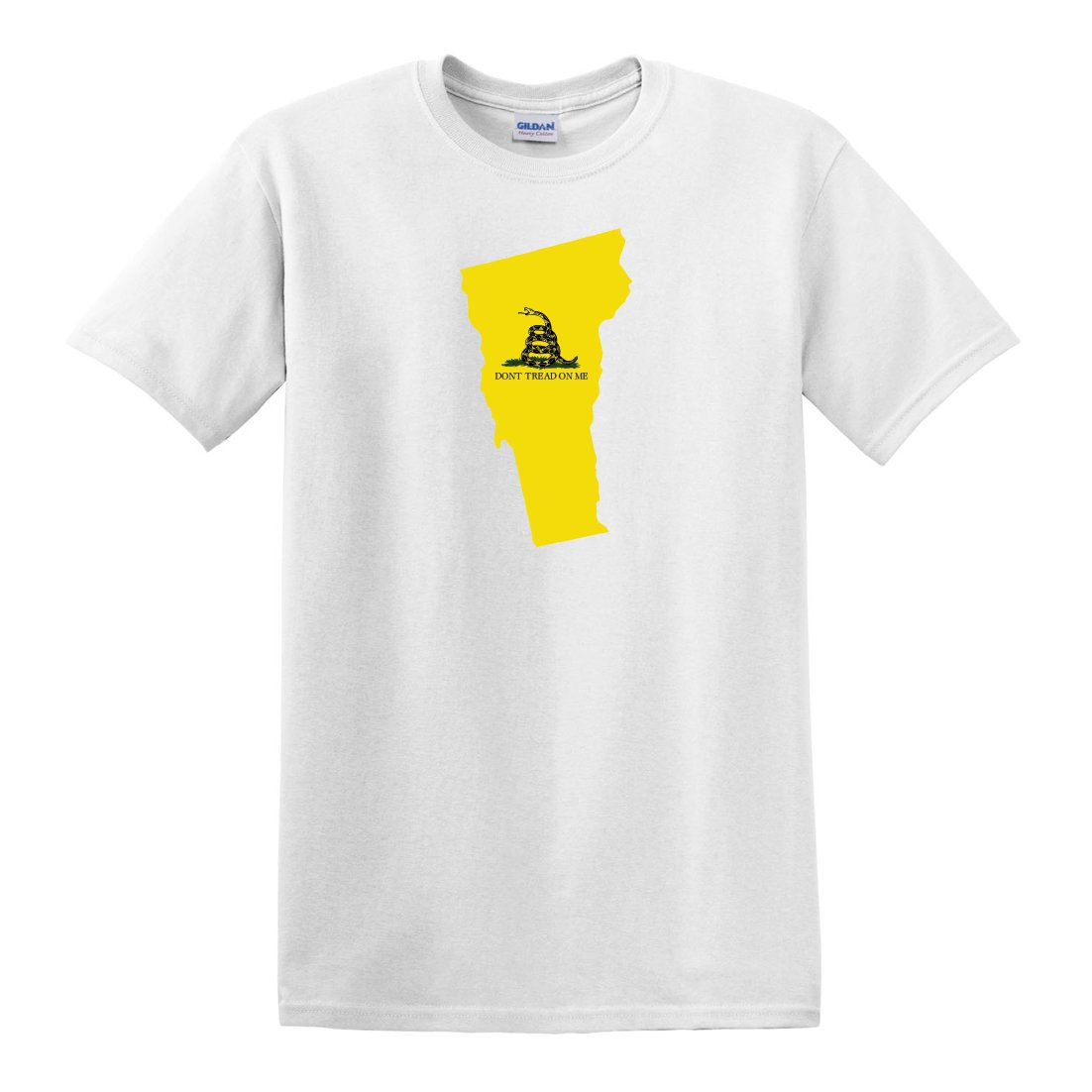 Fagraphix S Dont Tread On Me Vermont State Shaped Gadsden Flag Tshirt