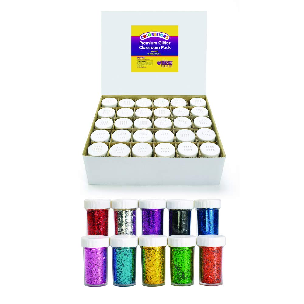 Colorations GPACK Glitter Jars Classroom Pack (Pack of 30)