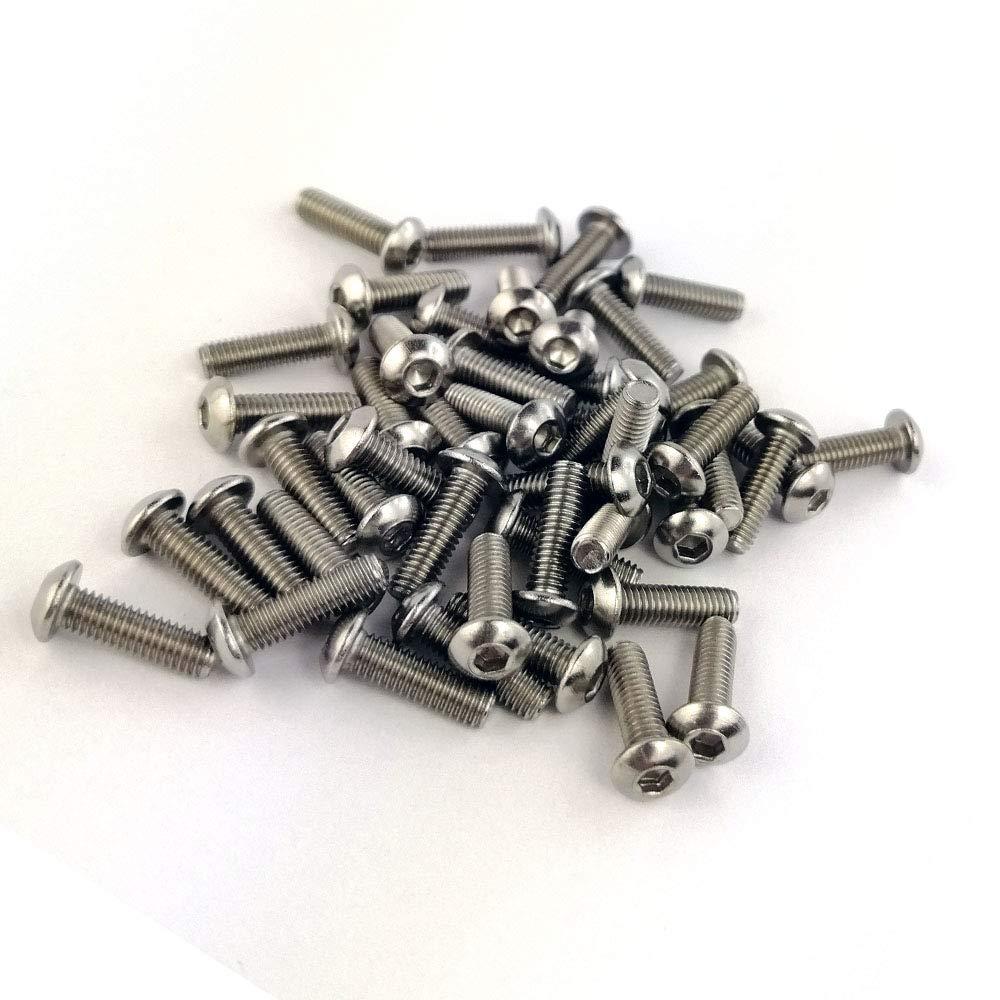 Vis /à m/étaux T/ête Bomb/ée Six Pans Creux Acier Inox ISO 7380-1 x10 M8x50