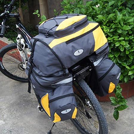 Estante de la bici bolsa trasera Alforja para maletero de bicicleta, 3 en 1 Alforja de