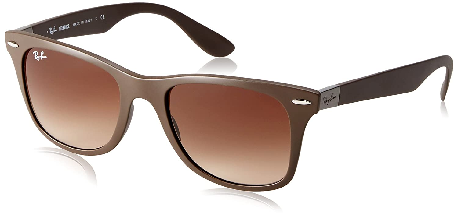 Ray-Ban Liteforce Wayfarer Gafas De Sol En Rb4195 Marrón 603313 52, Brown (603383 603383), 52 mm