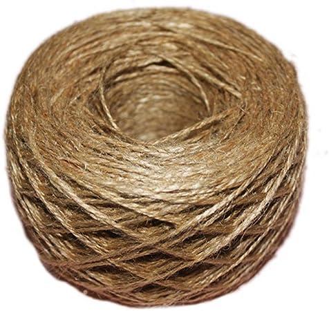 3 cordes de 100 m de corde de chanvre pour d/écoration murale avec cadre photo projets de jardinage /étiquette Ficelle de jute tiss/ée r/étro de 2 mm Sipliv d/écoration de mariage emballage de cadeaux
