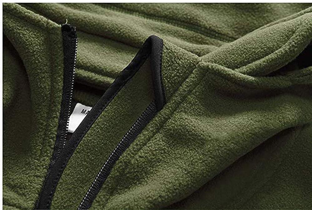 YSENTO Mens Fleece Soft Shell Windproof Jacket Combat Hoodie Jacket Warm Coats