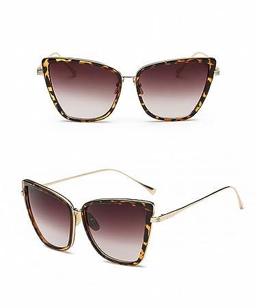 Wind Männer und frauen sonnenbrille katze auge mode sonnenbrille dekorative Gläser transparente rahmen Roségold rSW8o