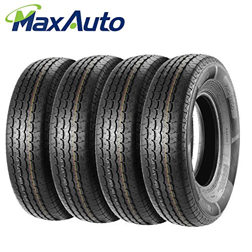ST215/75R14 Load Range D MaxAuto Radial Trailer Tires ST215/75R-14 8Ply(Pack of 4) by MaxAuto