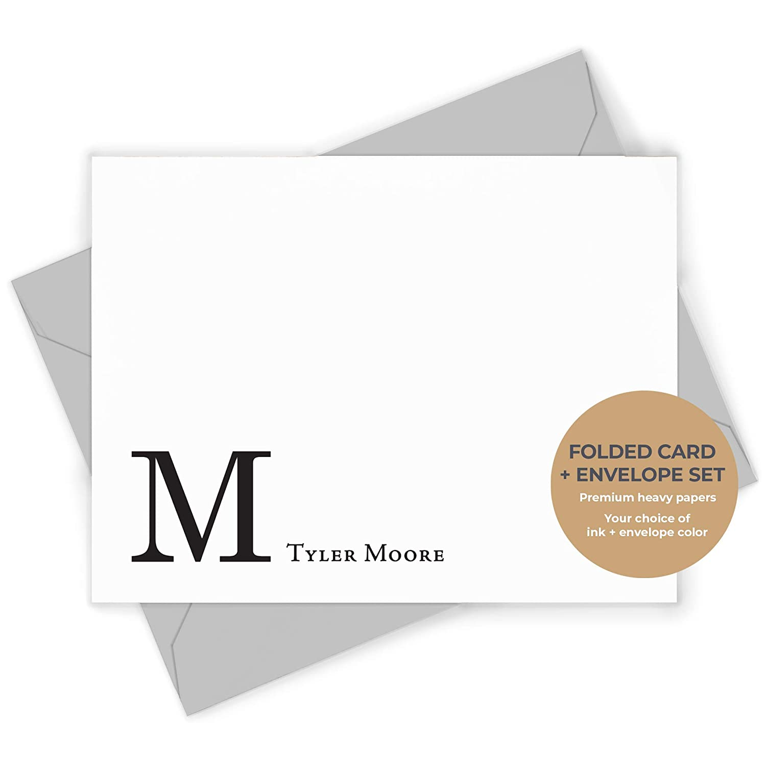 5 Masculine Note Cards Folded Note Cards Note Card Set Note Cards With Envelopes