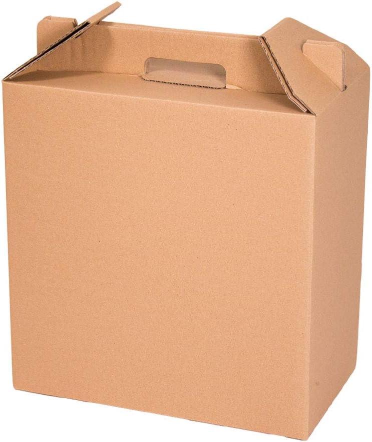 Kartox | Caja para Vino | Estuche de 6 botellas de vino | Caja para lote de navidad | Color marrón | 4 Unidades: Amazon.es: Oficina y papelería