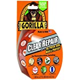 """Gorilla Tape, Crystal Clear Duct Tape, 1.88"""" x 9 yd, Clear, (Pack of 1)"""