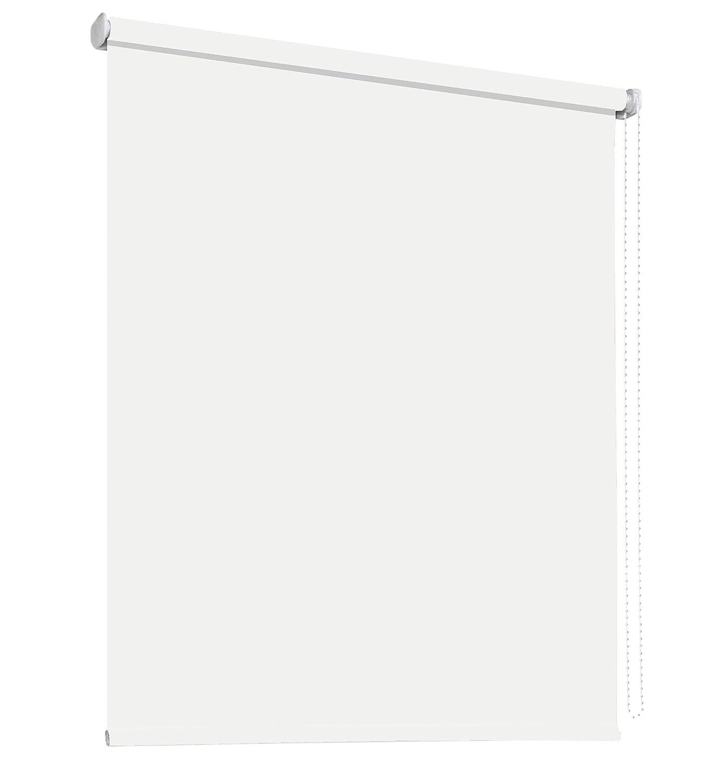 Schlafzimmerrollo Verdunklungsrollo Klemmrollo Tür Fenster Montage ohne Bohren Klemmfix Rollo Vorhang viele Farben Stoff lichtundurchlässig verdunkelnd Klemmträger Klemmhalter (152 x 180 cm   Weiß)