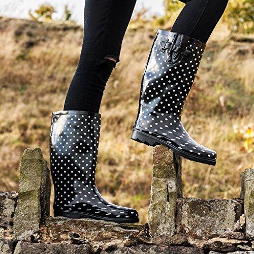 Spot donna Noir gomma Spylovebuy Stivali di ZxTSXPw
