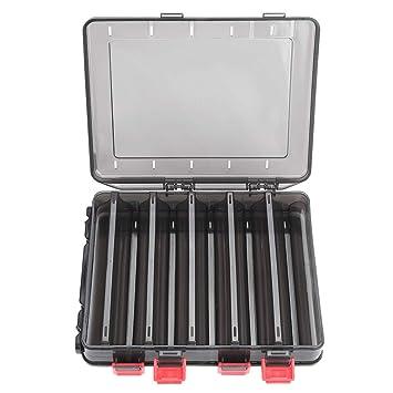 Dilwe Angelger/ät Box Doppelseitiger K/öder Aufbewahrungsbox mit 10 F/ächern f/ür Angelk/öder K/öderhaken