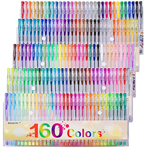 Reaeon Color Gel Pens for Adults Coloring Books Drawing Art Markers