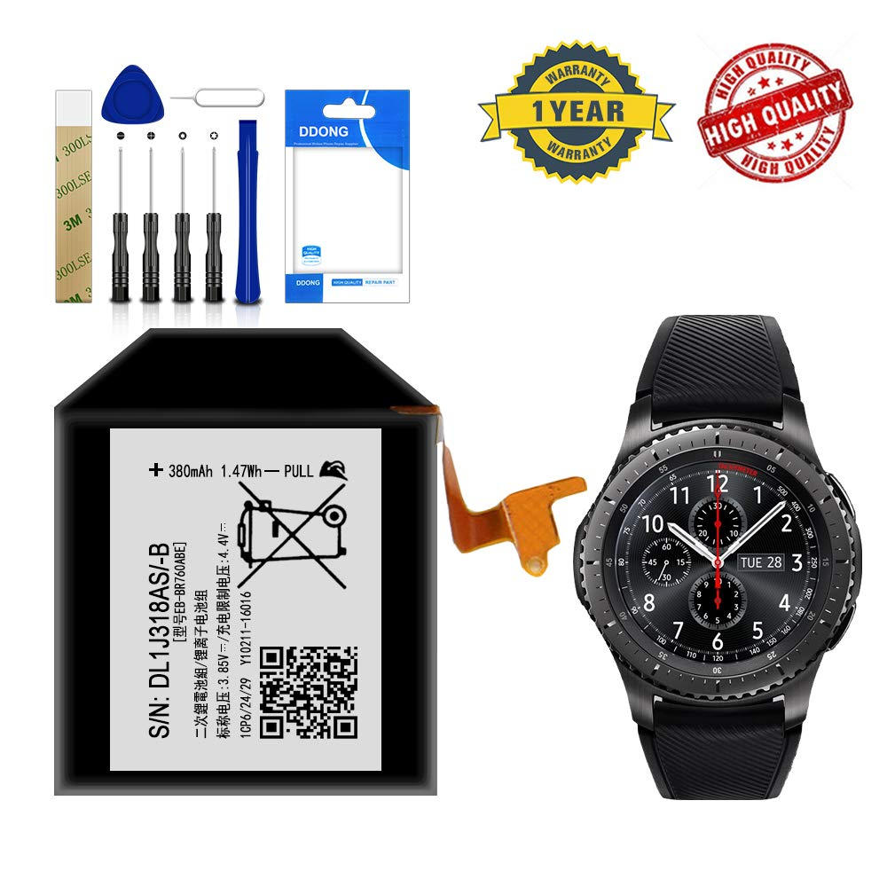 Bateria Para Samsung Gear S3 Frontier Eb Br760abe Free Adhesive Tool