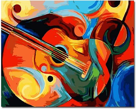 FXBSZ Color de la Guitarra Pintura al óleo Imagen Moderna ...