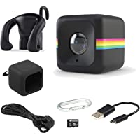 Polaroid Lifestyle Cube HD 1080p Waterproof Action & Underwater Wide Angle Sports Video Camera (Black) - Includes Cube Waterproof Case 8GB Memory Card Bumper Protective Case