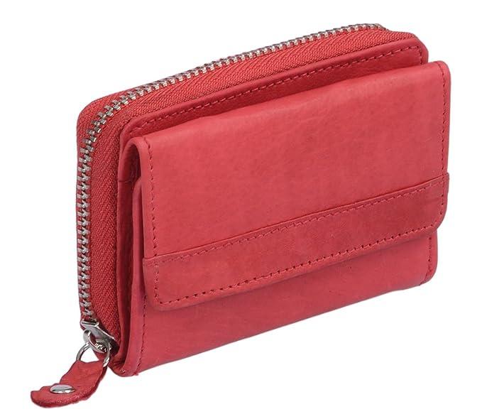 85 opinioni per Mini-portafoglio OTARIO, Vera Pelle, ciliegia 9x6,5cm