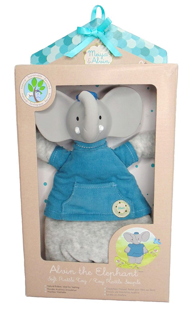 Meiya & Alvin Soft Rattle Toy, Alvin The Elephant