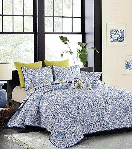 Hedaya Home Fashions 901 Portofino 5 Piece Quilt Set, King (Portofino Comforter Set)
