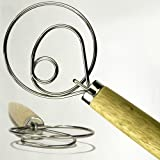 The Original Kitchen 13.5-Inch Stainless Steel Danish Dough Whisk, Large