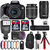 Canon EOS Rebel 800D/T7i Camera + 18-55mm IS STM Lens + Canon EF 70-300mm IS II Nano USM Lens + Battery Grip + 6PC Graduated Color Filter Set + 2yr Extended Warranty - International Version