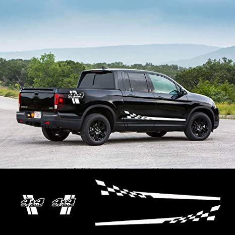 Honda Ridgeline Off Road >> Amazon Com White Decal Sticker Side Stripes Graphics L