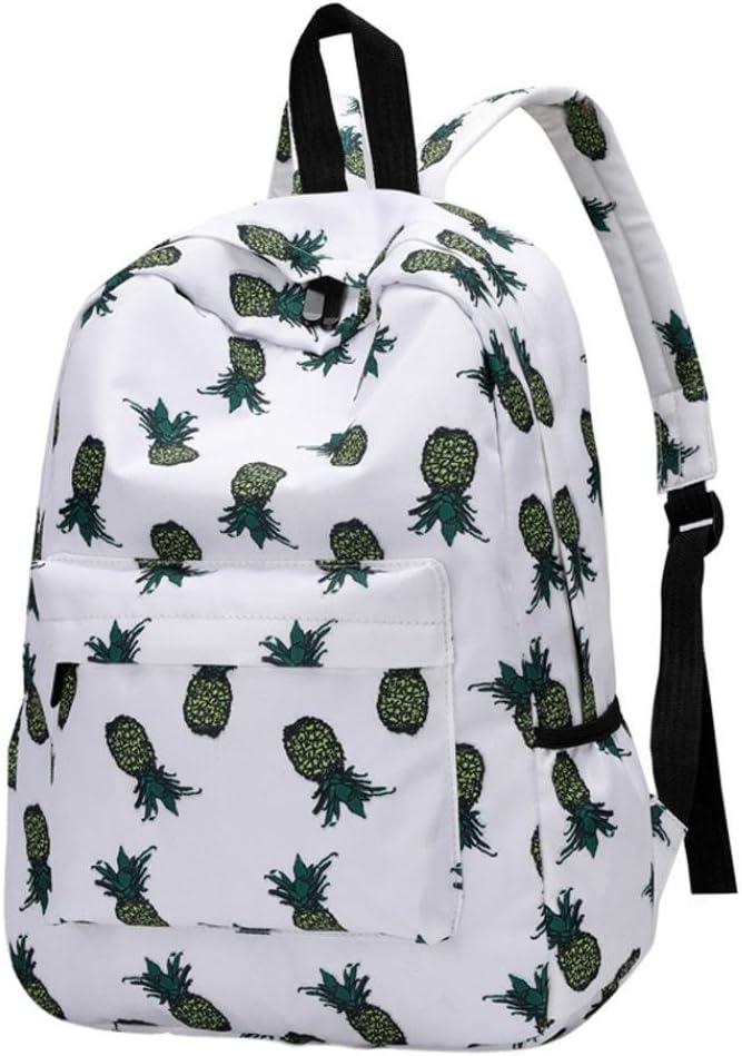 Women Backpacks Pineapple Print Bookbags Female Travel Backpack
