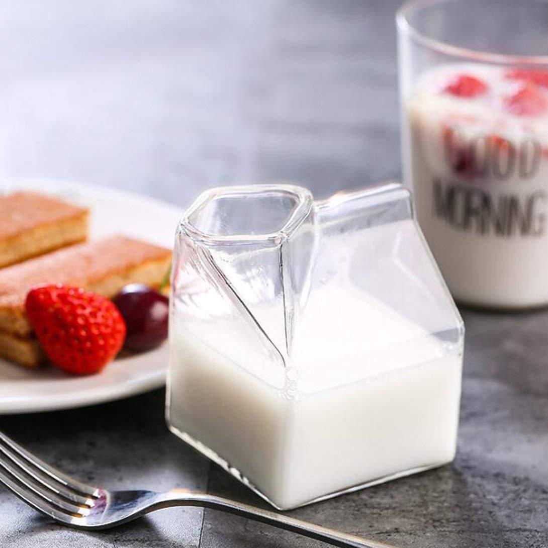 Swiftswan Glass Milk Glass Cups Creative American Milk Cartons